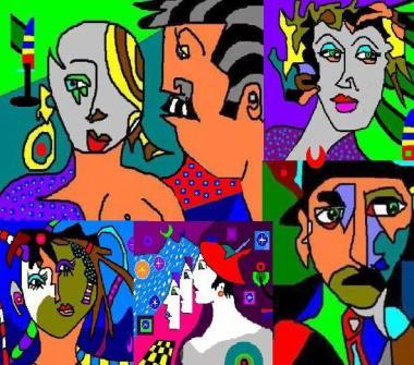 il mondo deille persone colorate