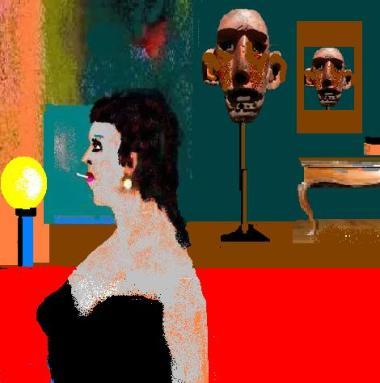 la signora che si intende di arte